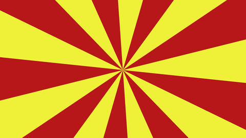 Red and yellow rotating radial background Animation