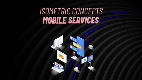 Mobile Services - Isometric Concept After Effects Template