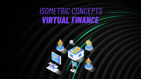 Virtual Finance - Isometric Concept After Effects Template