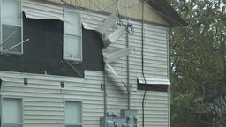 hurricane conditions - siding peels off home Footage