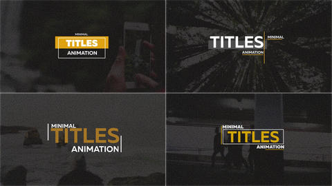 25 Minimal Titles After Effects Template