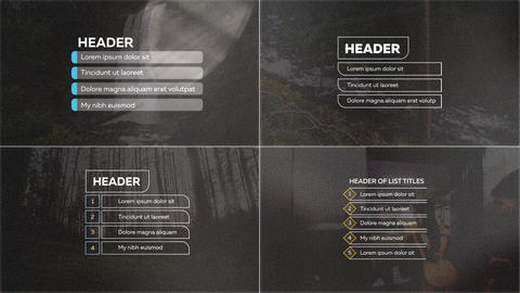 Lists TItles After Effects Template