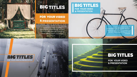 22 Big Titles After Effects Template