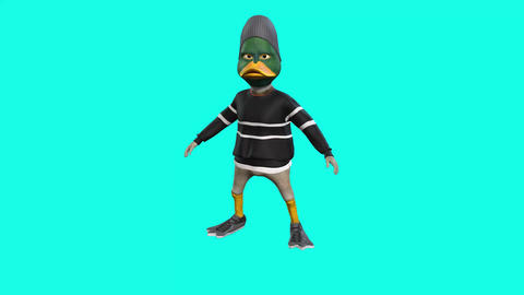 1094 HD Cartoon 3d DUCK dances Animation