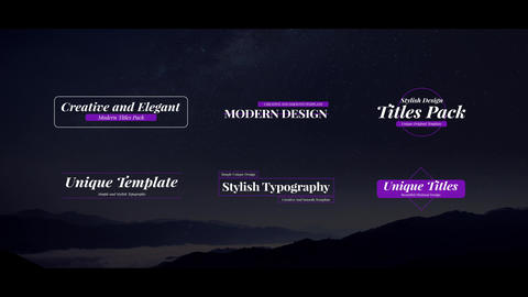 Unique Titles Pack For After Effects After Effects Template