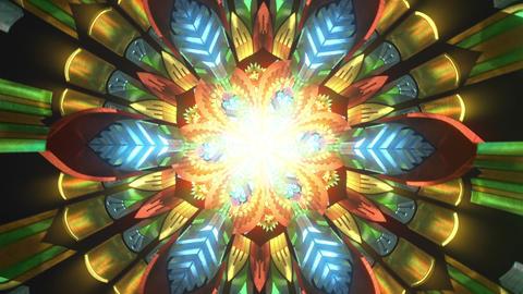 Spiritual meditation 3d seamless loop of trippy tance state meditation visual background illusion Animation