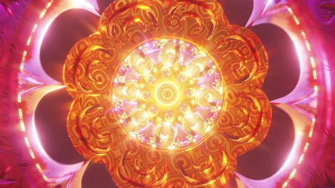 Infinite tunnel of trance psychedelic love trippy 3D art background for visual audio third eye Animation