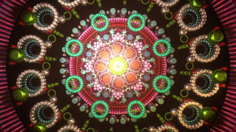 Trippy psychedelic trance 3D audiovisual to open up third eye chakra with visual cyberpunk Animation