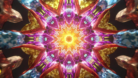 Meditation 3D mandala vj seamless loop beautiful color light trip with motion audiovisual third eye Animation