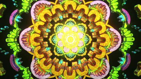 2077 futuristic cyberpunk seamless vj loop for trippy trance abstract mandala to open third eye Animation