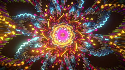 Abstract visual 3d trippy beautiful meditate music visual audio with looping futuristic cyberpunk Animation