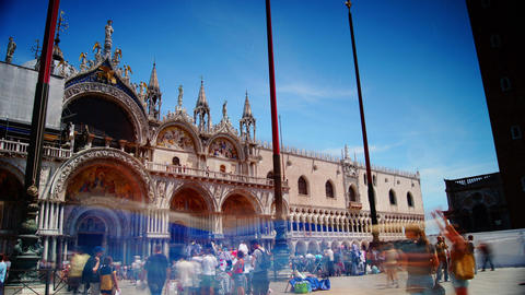 Some attractions of Venice city in Italy,San Marco Stock Video Footage