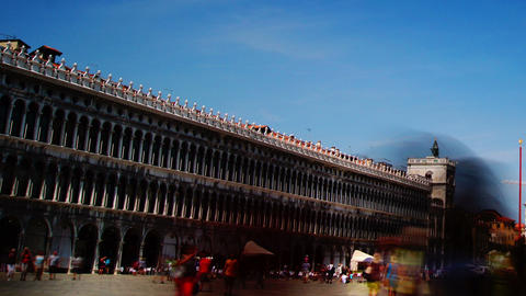 Some attractions of Venice city in Italy,San Marco Square Stock Video Footage