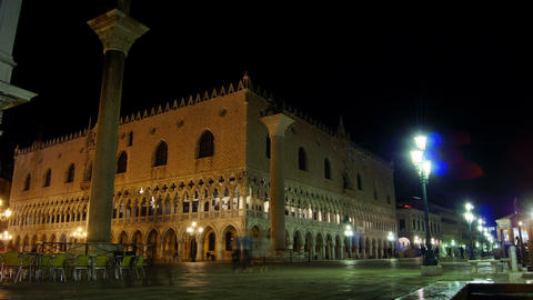 Some attractions of Venice city in Italy,Doge's Palace Live Action