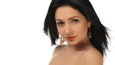 Young beautiful girl flirting Stock Video Footage