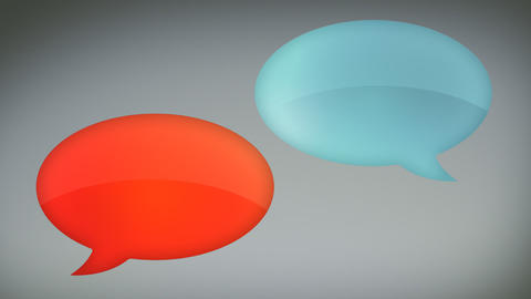 Glossy Speech Bubbles Rolling In and Out Animation