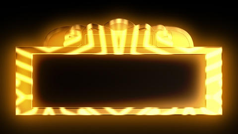 Looping Gold Theatrical Marquee Stock Video Footage