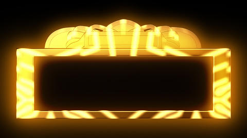 Looping Gold Theatrical Marquee Animation