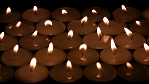 The candles die away Stock Video Footage
