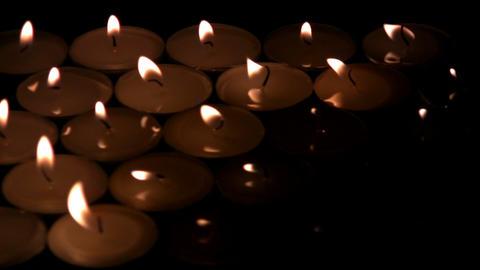 The candles die away Footage