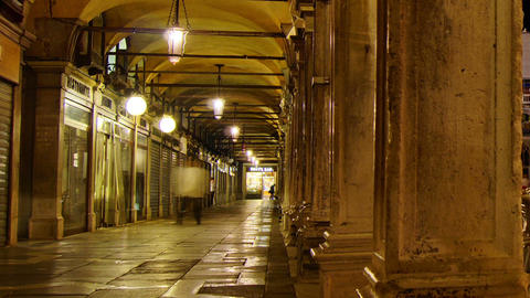 Some attractions of Venice city in Italy, San Marco view Stock Video Footage