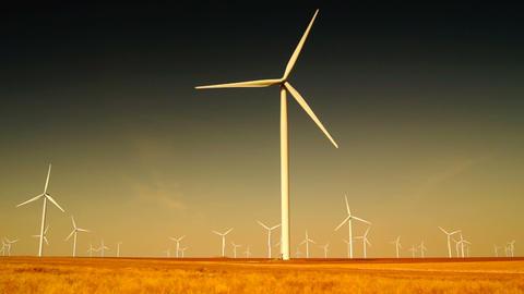 Ecology wind turbines Stock Video Footage