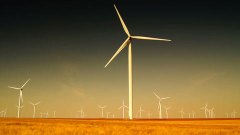 Ecology wind turbines Footage