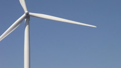 Ecology Wind Turbines stock footage