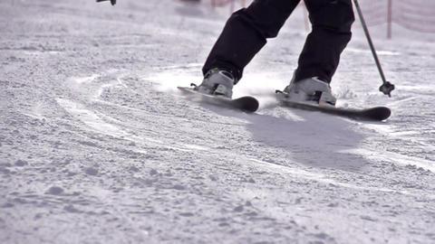 Ski Turn HD Stock Video Footage