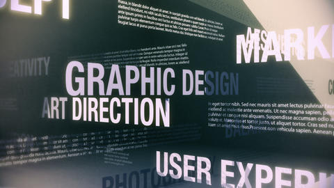 Graphic Design Related Services Seamless Loop Animation