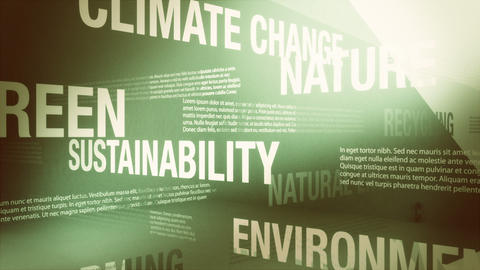 Environment/Green Related Words Background Loop Stock Video Footage
