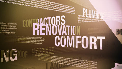 Home Improvement Related Terms stock footage