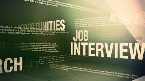Job Search Related Words Background Loop Stock Video Footage