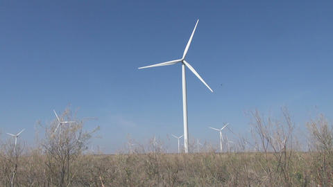 Ecology Wind Turbines stock footage