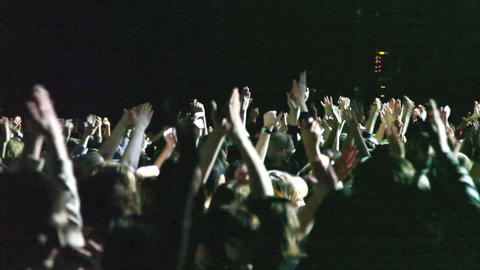 Concert crowd Stock Video Footage