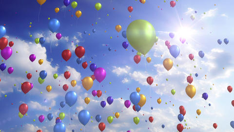 Colorful Balloons - Festive / Party Video Background Loop Animation