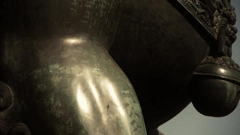 china ancient royal bronze lion Stock Video Footage