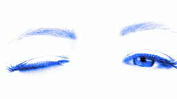 Emotional movement of an eyes and eyebrowes Stock Video Footage