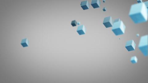 flying blue cubes loop Stock Video Footage