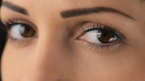 Her Eyes Close Up stock footage