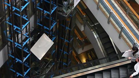 Escalator Stock Video Footage