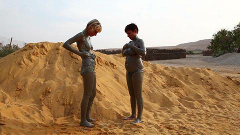 Dead Sea mud Stock Video Footage