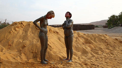 Dead Sea mud Footage