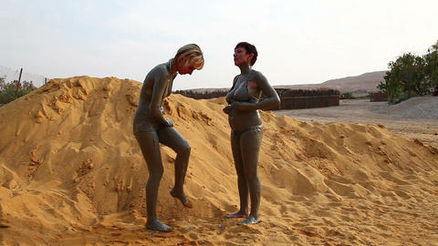 Dead Sea mud Stock Video Footage