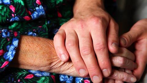 Elderly hands Stock Video Footage