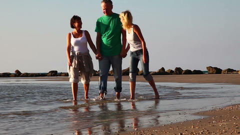 Family on the beach Stock Video Footage
