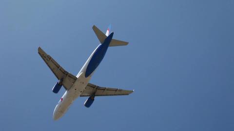 Plane flies in the sky Footage