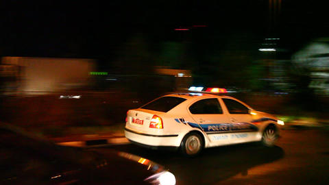 Police emergency lights Stock Video Footage