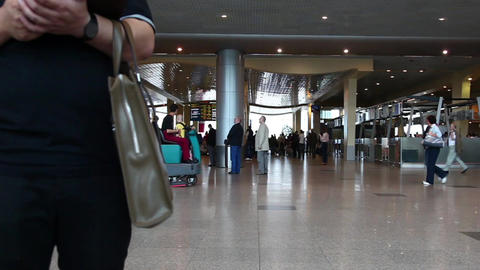 Passengers are at Domodedovo airport in Moscow Stock Video Footage