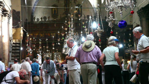 Church of the Nativity November 12, 2012 in Bethlehem, Palestine Footage